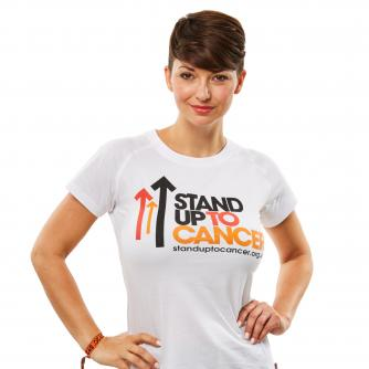 Stand Up To Cancer Women's White T-Shirt