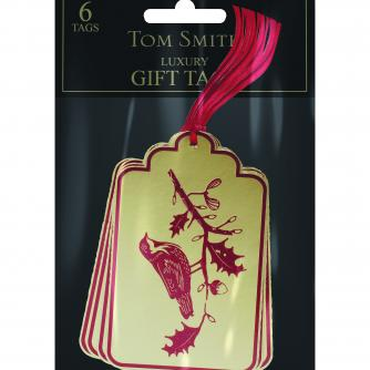 Woodland bird tags Cancer Research uk Christmas Tags
