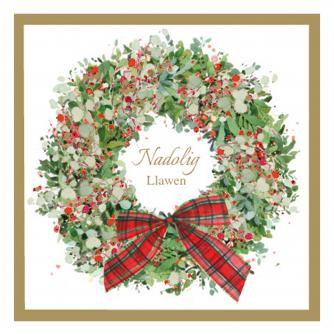 wreath at christmas bi-lingual cancer research uk christmas card